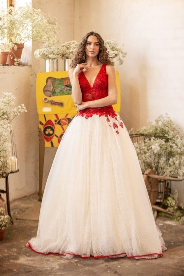 Vestido boda civil con otros colores