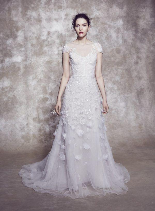 Vestido boda civil Marchesa modelo Selena
