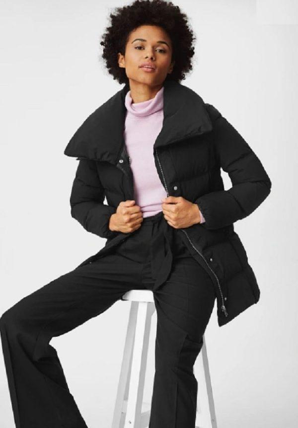 Ca rebajas para mujer chaqueta acolchada negra