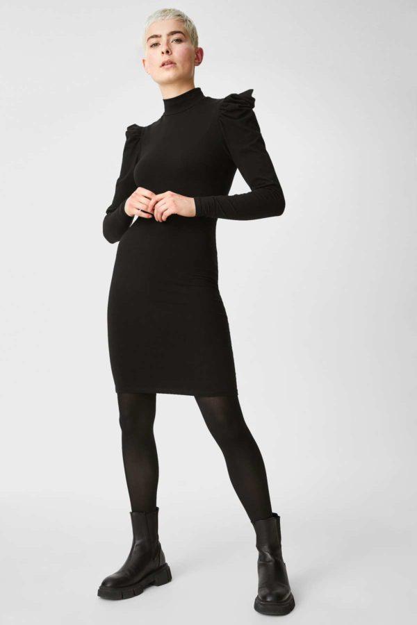 Ca rebajas para mujer vestido punto mangas
