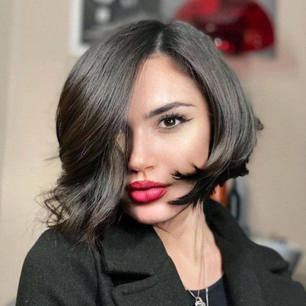 Peinados pelo corto bob asimetrico