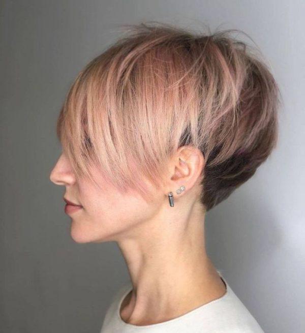 Peinados pelo corto peinado pixie lado