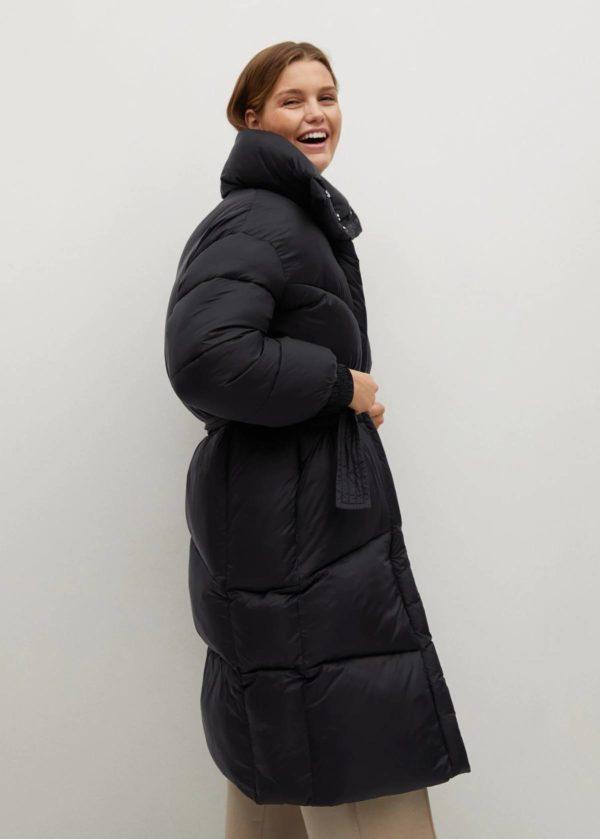 Rebajas MANGO invierno 2021 abrigo acolchado oversize