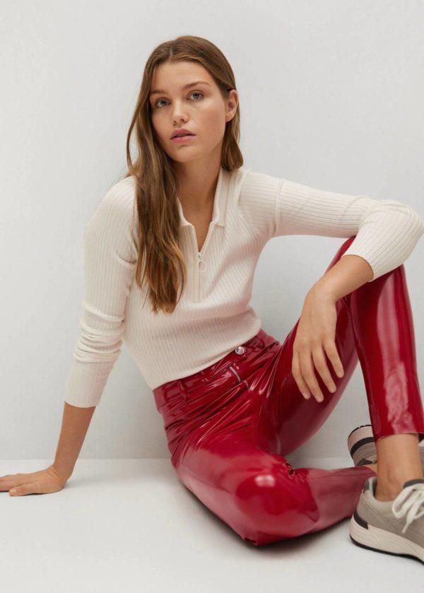 Rebajas MANGO invierno 2021 pantalones piel