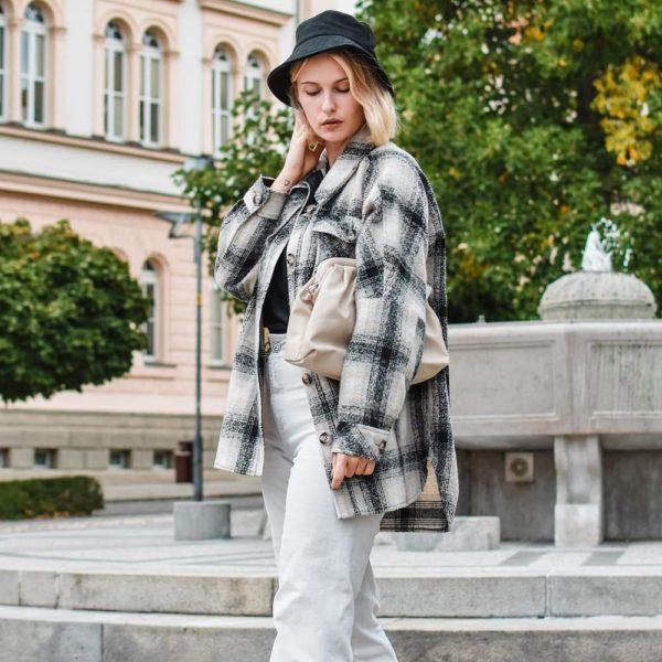 Rebajas primark para mujer invierno 2021 chaqueta cuadros