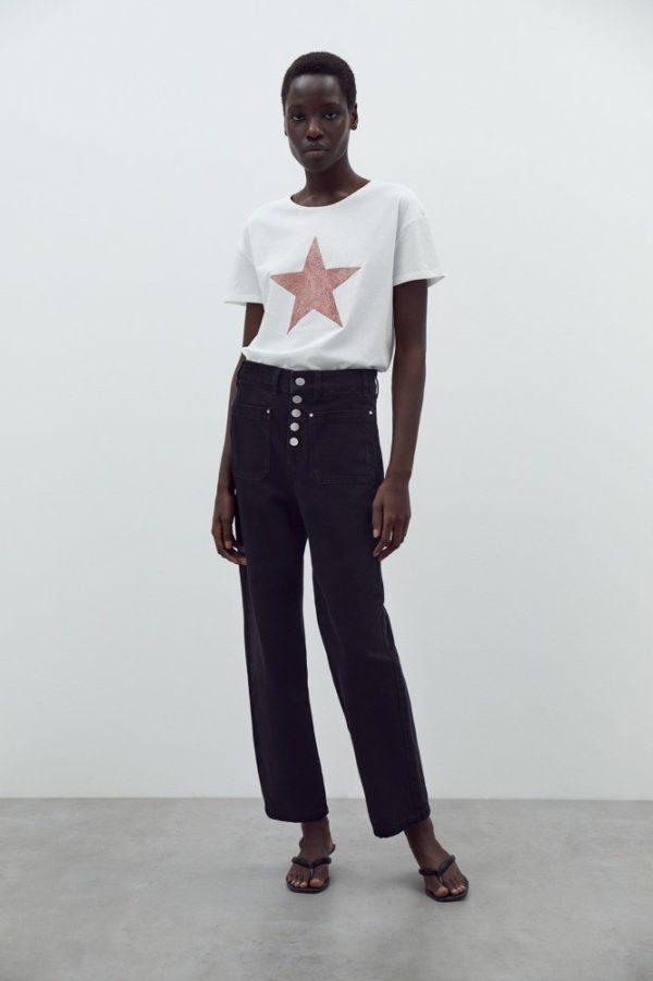 Catalogo REBAJAS SFERA primavera verano 2021 camiseta blanca estrella