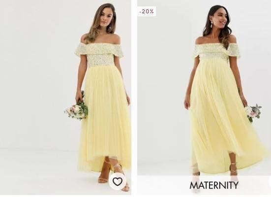 Vestidos de dama de honor amarillo