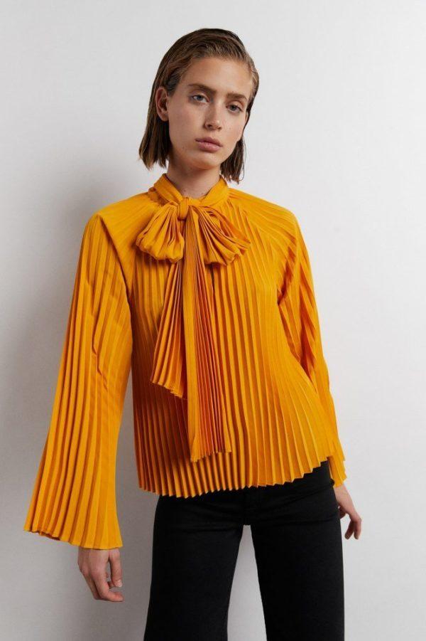 CATALOGO SFERA invierno 2021 camisa plisada
