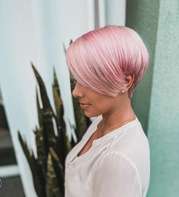 CORTES PELO PIXIE color rosa