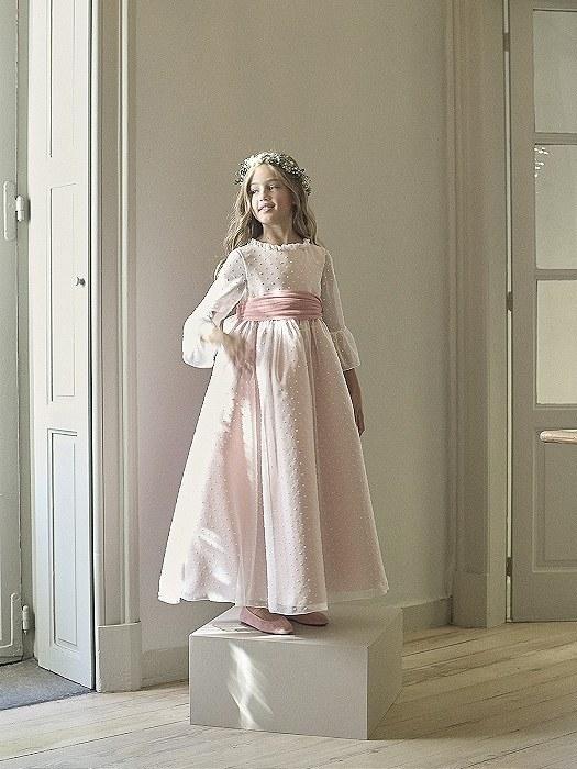 VESTIDOS COMUNION NANOS 2021 vestido modelo provenz tul rosa