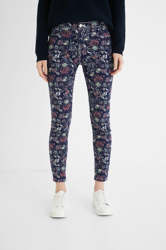 Pantalón skinny de flores Desigual