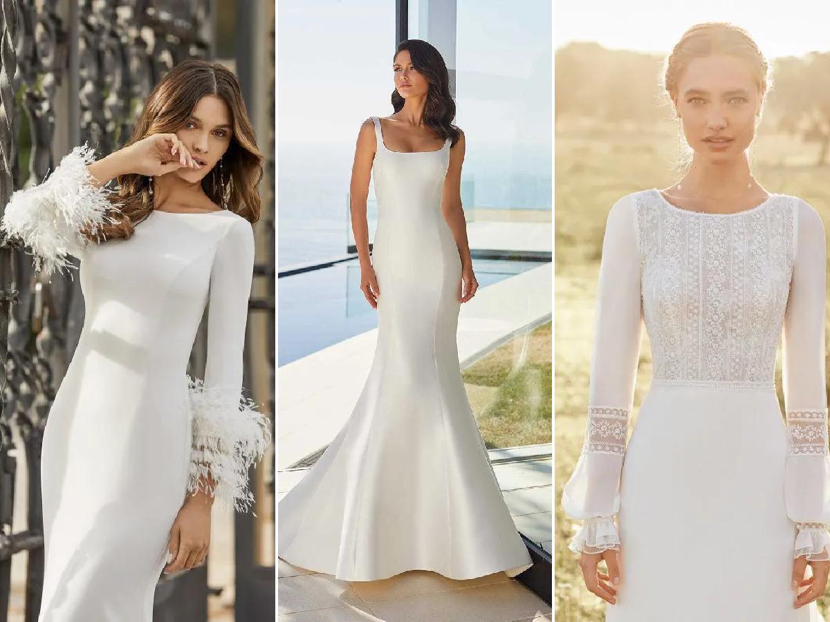 Los Vestidos De Novia Sencillos 2021 Modaellas Com