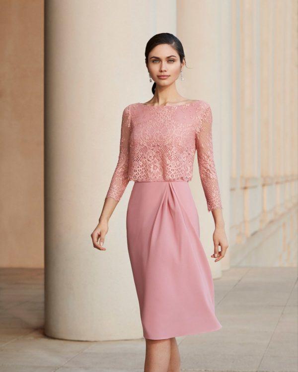 Vestidos de comunion para madres vestido rosa clara 4t188