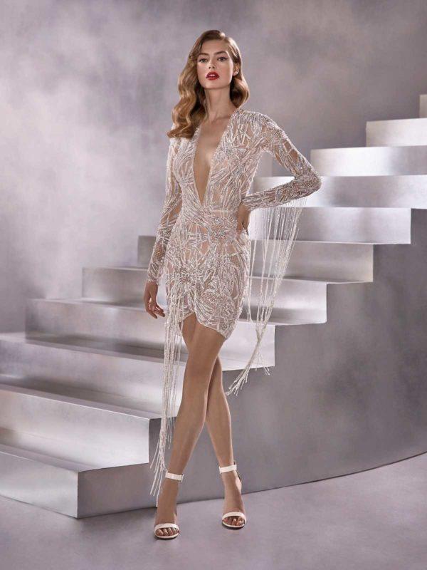 Vestidos de novia cortos 2021 pronovias seven stars