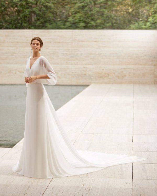 Vestidos de novia sencillos 2021 vestido EIRE de rosa clara