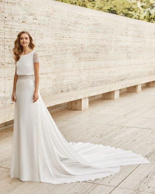 Vestidos de novia sencillos 2021 vestido ELAM de rosa clara