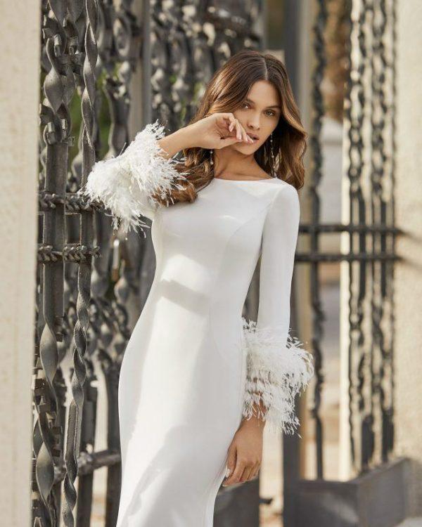 Vestidos de novia sencillos 2021 vestido TAHIR de rosa clara