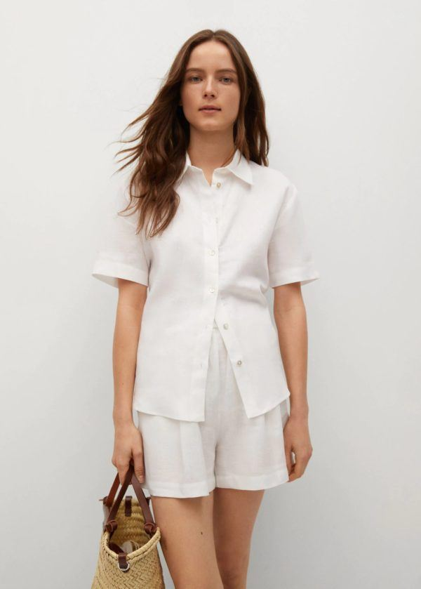 REBAJAS MANGO verano 2021 camisa blanca
