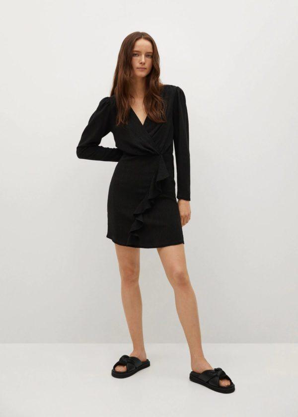 REBAJAS MANGO verano 2021 vestido corto negro
