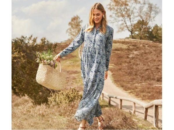 Catalogo lidl otoño invierno vestido estampado