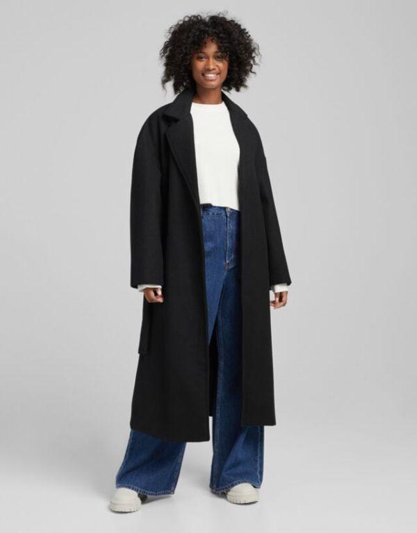 Moda adolescente otoño invierno 2021 abrigo lana bershka
