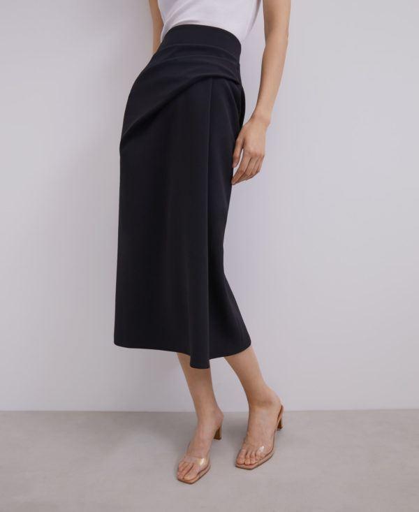 Rebajas adolfo dominguez verano 2012 falda midi pliegues