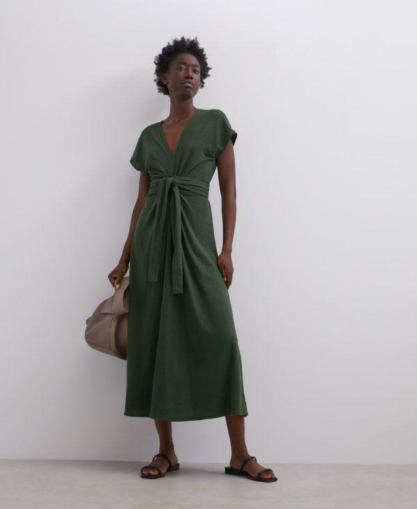 Rebajas adolfo dominguez verano 2012 vestido midi verde