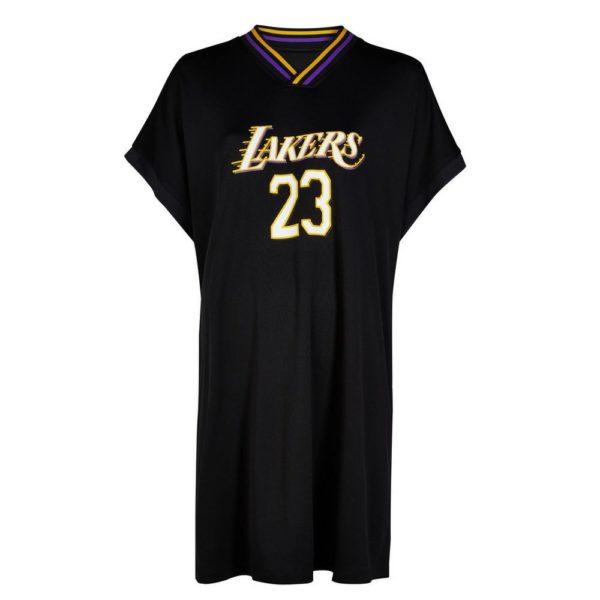 Rebajas primark para mujer 2021 Vestido estilo camiseta deportiva de Los Angeles Lakers de la NBA