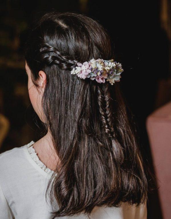 Peinados comunion pelo semirecogido