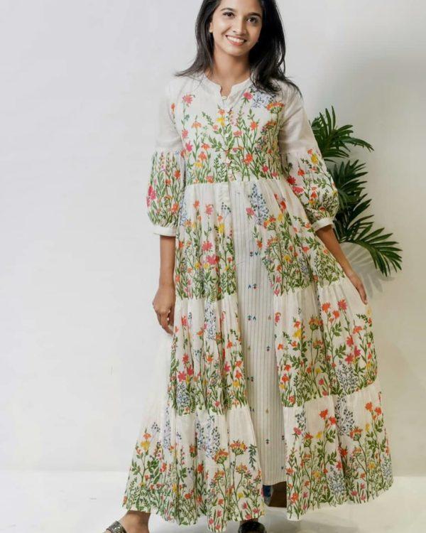 Vestido clásico de flores Girly Style