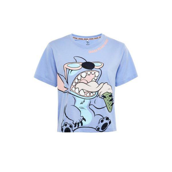 Rebajas primark para mujer verano 2021 Camiseta azul de Stitch de Disney