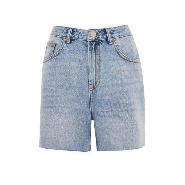 Rebajas primark para mujer verano 2021 Pantalón corto ancho de talle alto con bajos sin rematar
