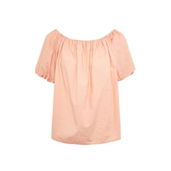 Rebajas primark para mujer verano 2021 Top de algodón con hombros descubiertos color melocotón