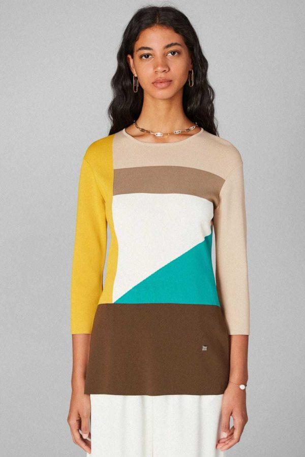 Rebajas purificacion garcia otoño invierno chaqueta jersey multicolor