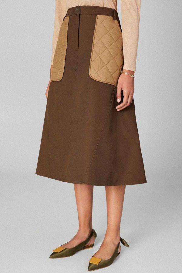 Rebajas purificacion garcia otoño invierno falda evase