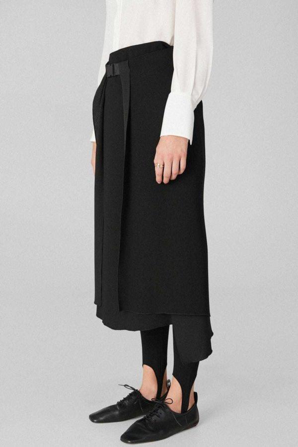 Rebajas purificacion garcia otoño invierno falda evase negro