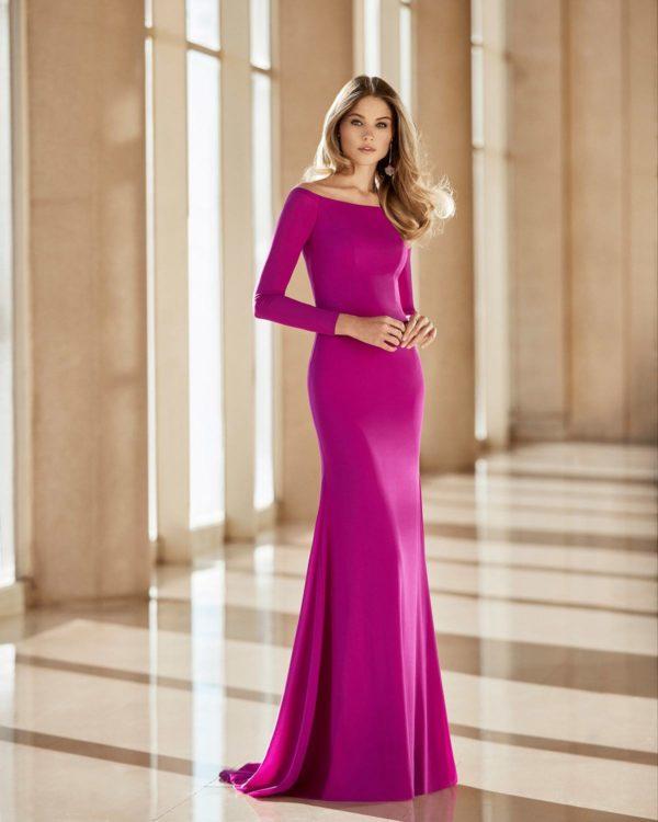 Vestidos de fiesta largos rosa clara 2021 vestido modelo 4t142