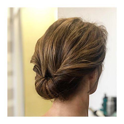 Peinado recogido para media melena