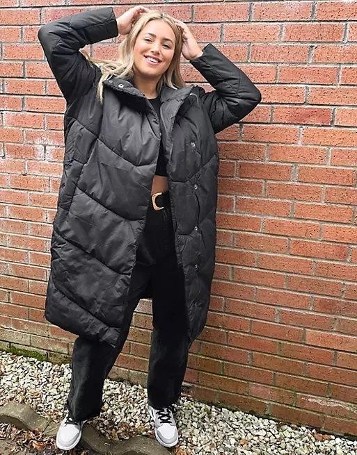 Ropa para gorditas otoño invierno ASOS abrigo acolchado
