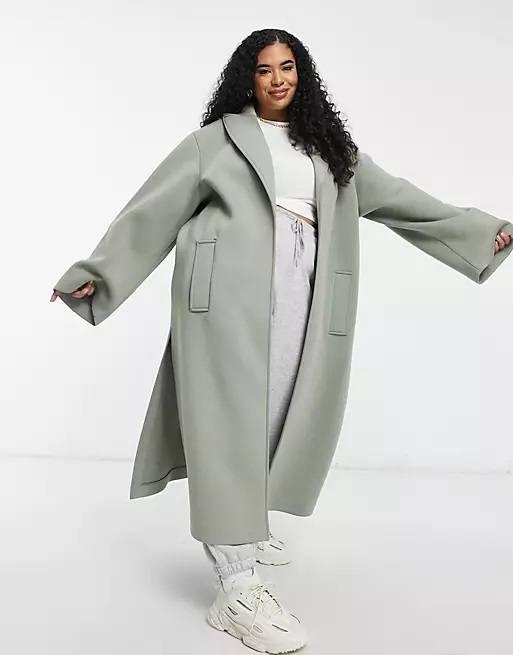 Ropa para gorditas otoño invierno ASOS abrigo largo lana