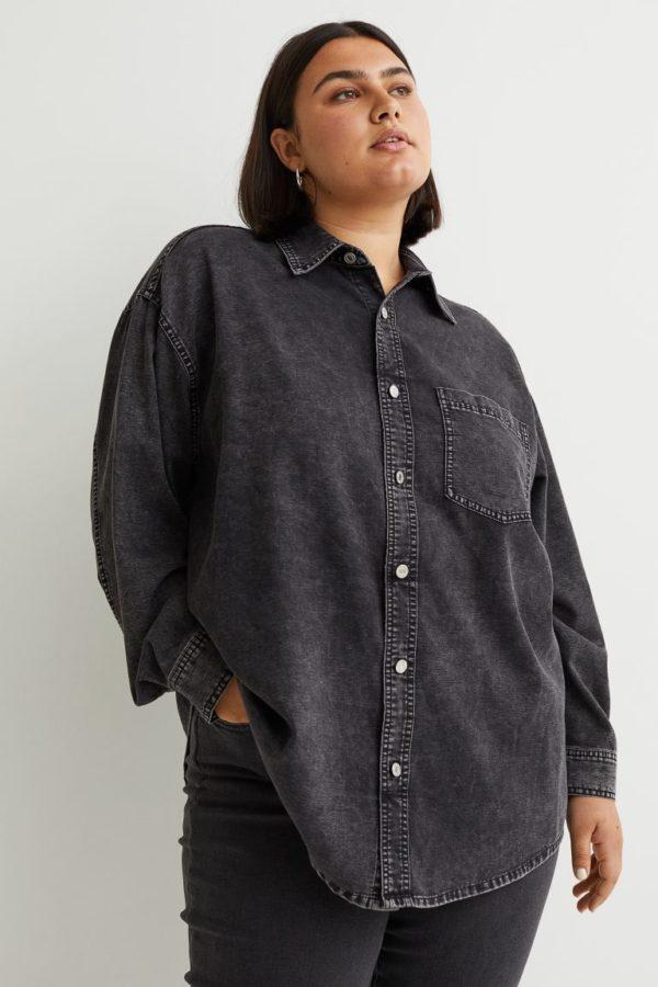 Ropa para gorditas otoño invierno H&M camisa denim