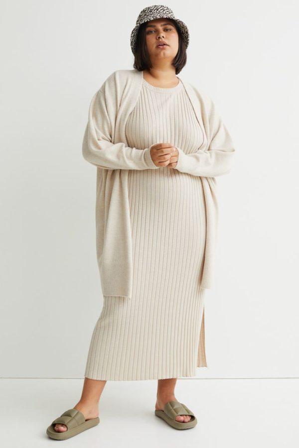 Ropa para gorditas otoño invierno H&M vestido punto