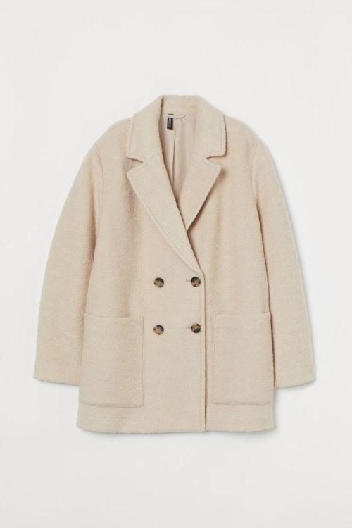 Abrigo mezcla de lana H&M