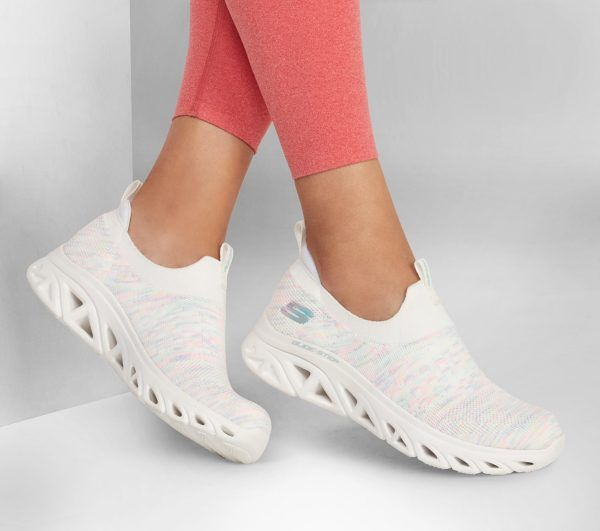 Catalogo de zapatillas de mujer skechers otoño invierno SNEAKERS glide sport blancas