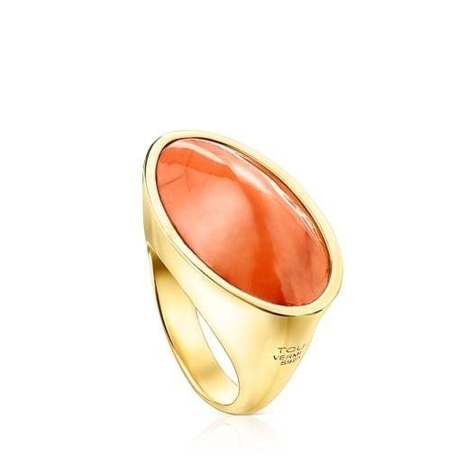 Joyas tous otoño invierno ANILLOS anillo naranja plata vermeil