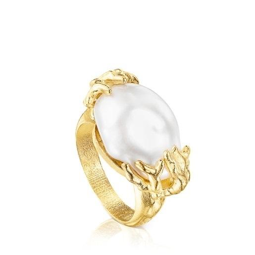 Joyas tous otoño invierno ANILLOS anillo perla plata vermeil