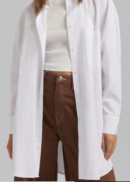 Camisa oversize mujer popelín