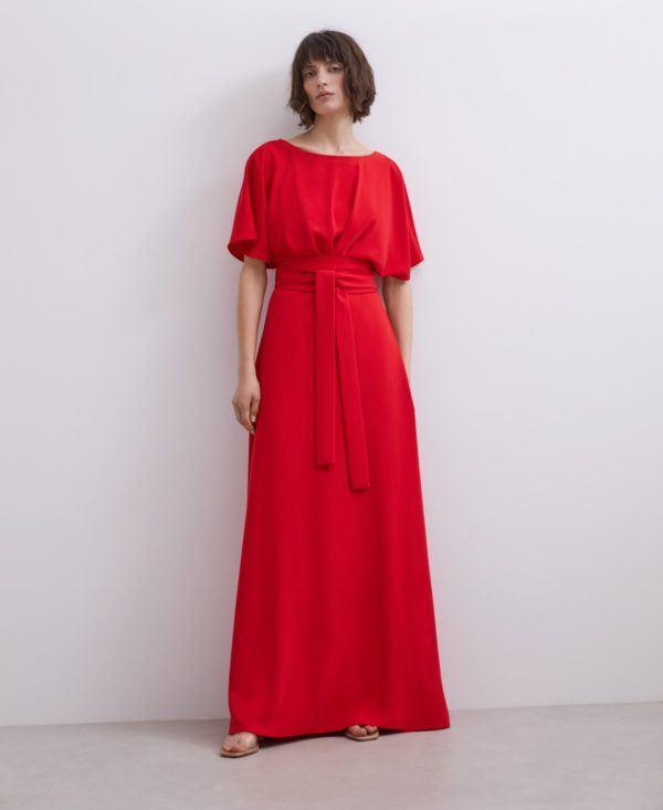 Vestidos adolfo dominguez otoño invierno vestido rojo