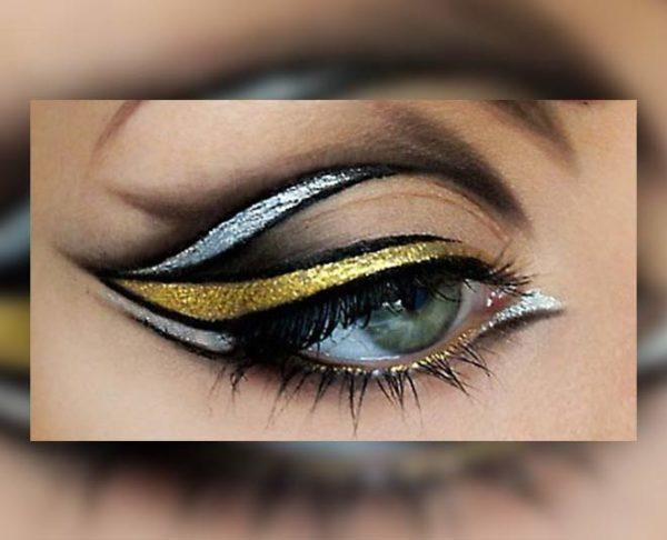 Disenos de eyeliner o delineado de ojos doble trazo