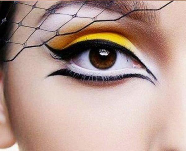 Disenos de eyeliner o delineado de ojos suelto